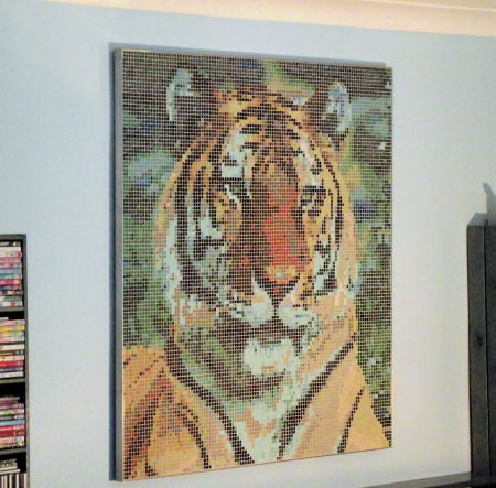 Photo of 'Framed Mosaic Wall Art' - Siberian Tiger