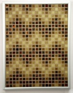 Sepia ZigZags - Framed Mosaic Accent