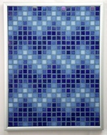 Navy ZigZags - Framed Mosaic Accent