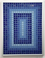 Navy Perspectives - Framed Mosaic Accent