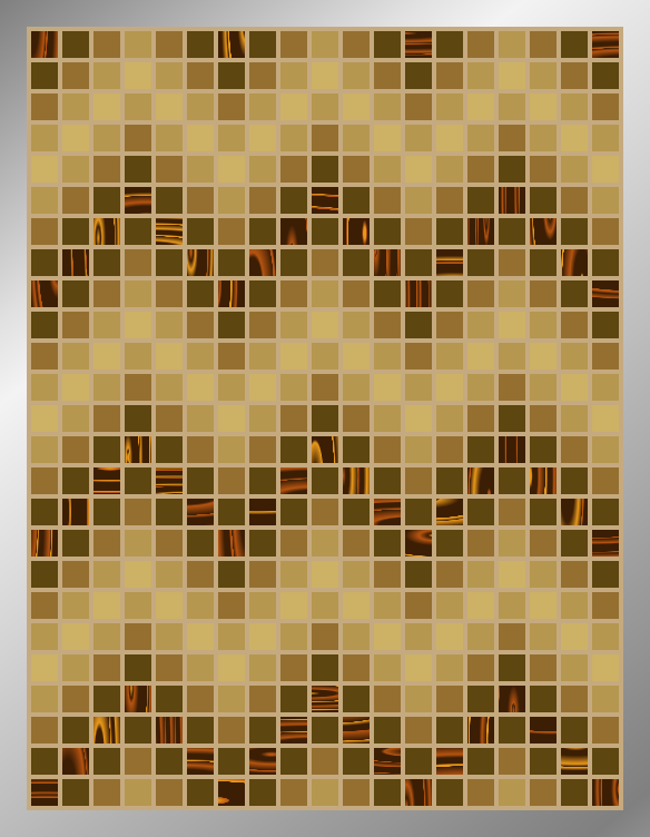 Sepia ZigZags - Mosaic Tiled Accent
