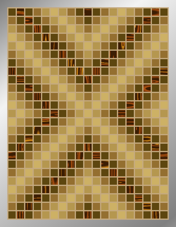 Sepia Arrows - Mosaic Tiled Accent