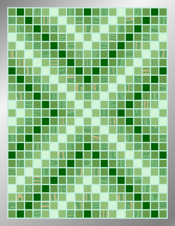Jaded Arrows - Mosaic Tiled Accent