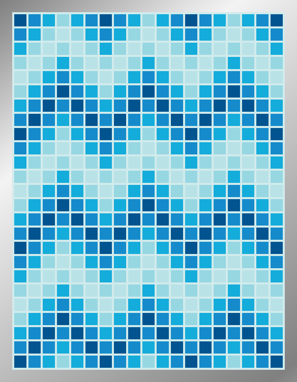 Aqueous ZigZags - Mosaic Tiled Accent