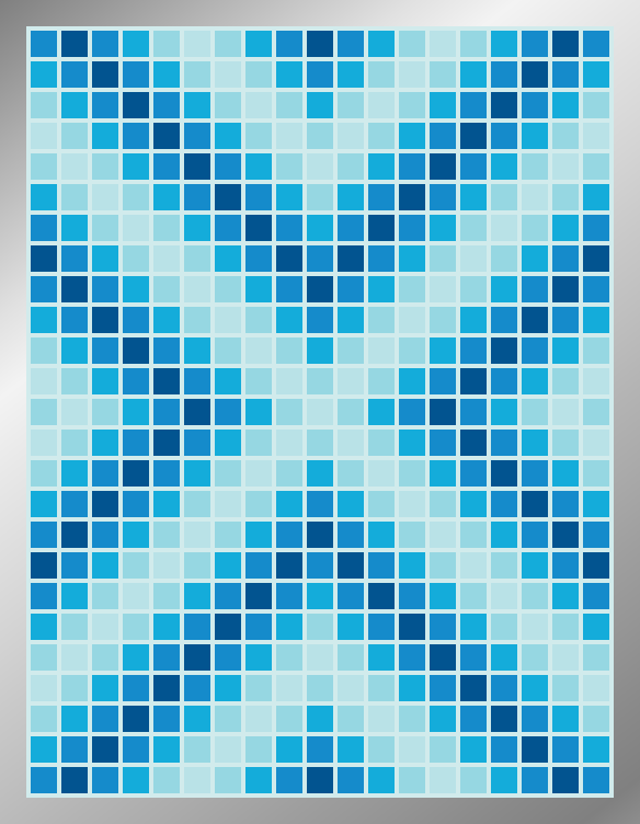 Aqueous Arrows - Mosaic Tiled Accent