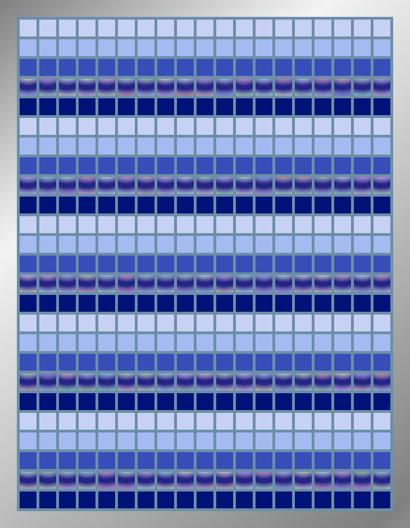 Navy Horizons - Mosaic Tiled Accent