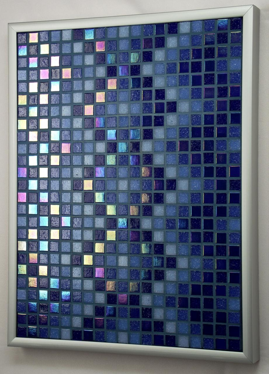 Navy DNA Iridescent Mosaic