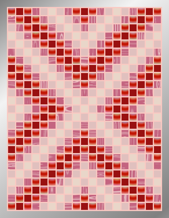 Candy Arrows - Mosaic Tiled Accent