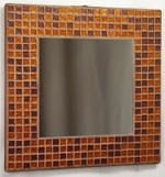 Copper Glitter 25cm - Mosaic Tiled Mirror
