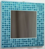 Turquoise Glitter 25cm - Mosaic Tiled Mirror