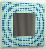Concentric Glas 29cm - Mosaic Tiled Mirror