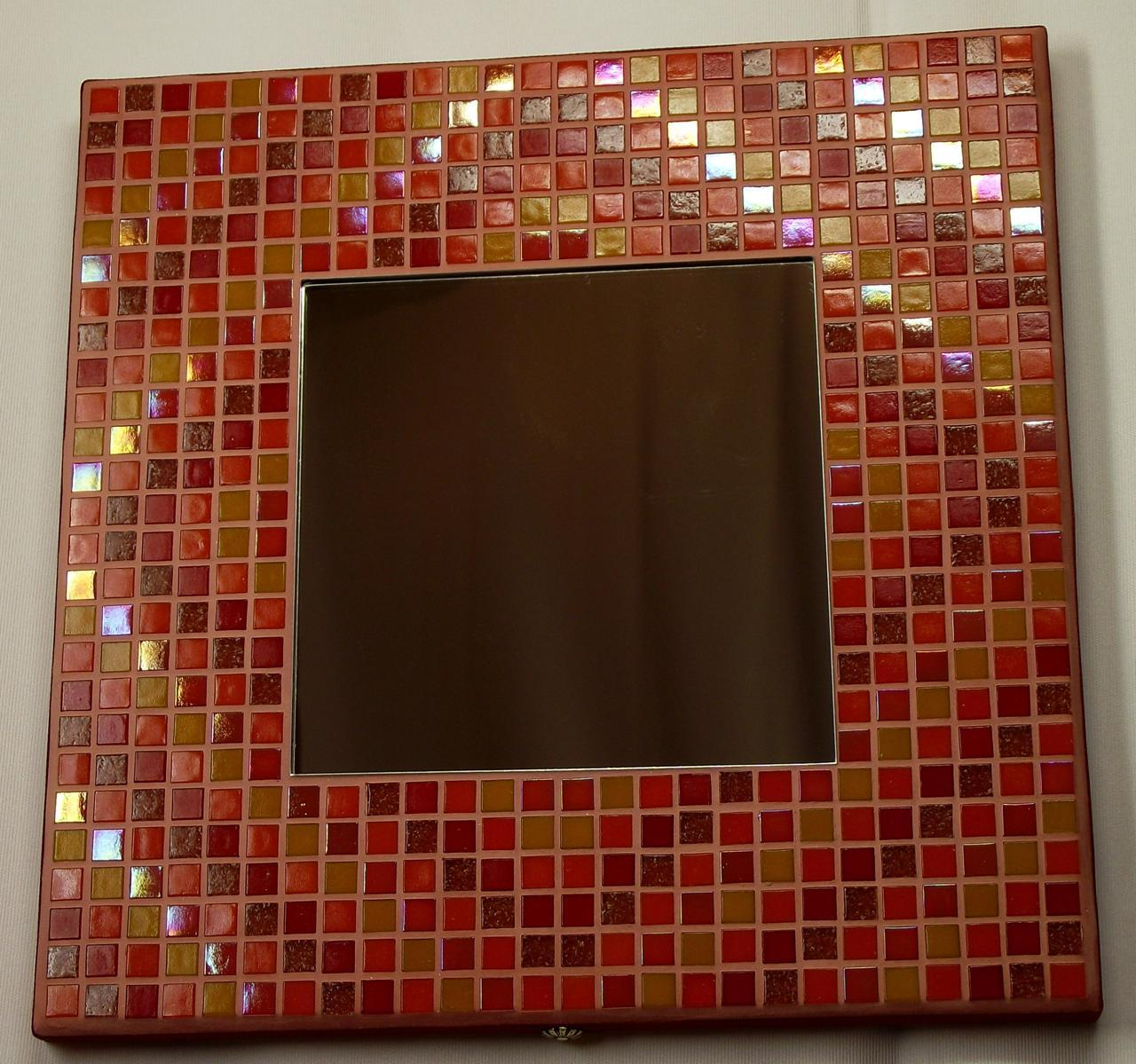 Autumn Diamonds 29cm Iridescent Mirror