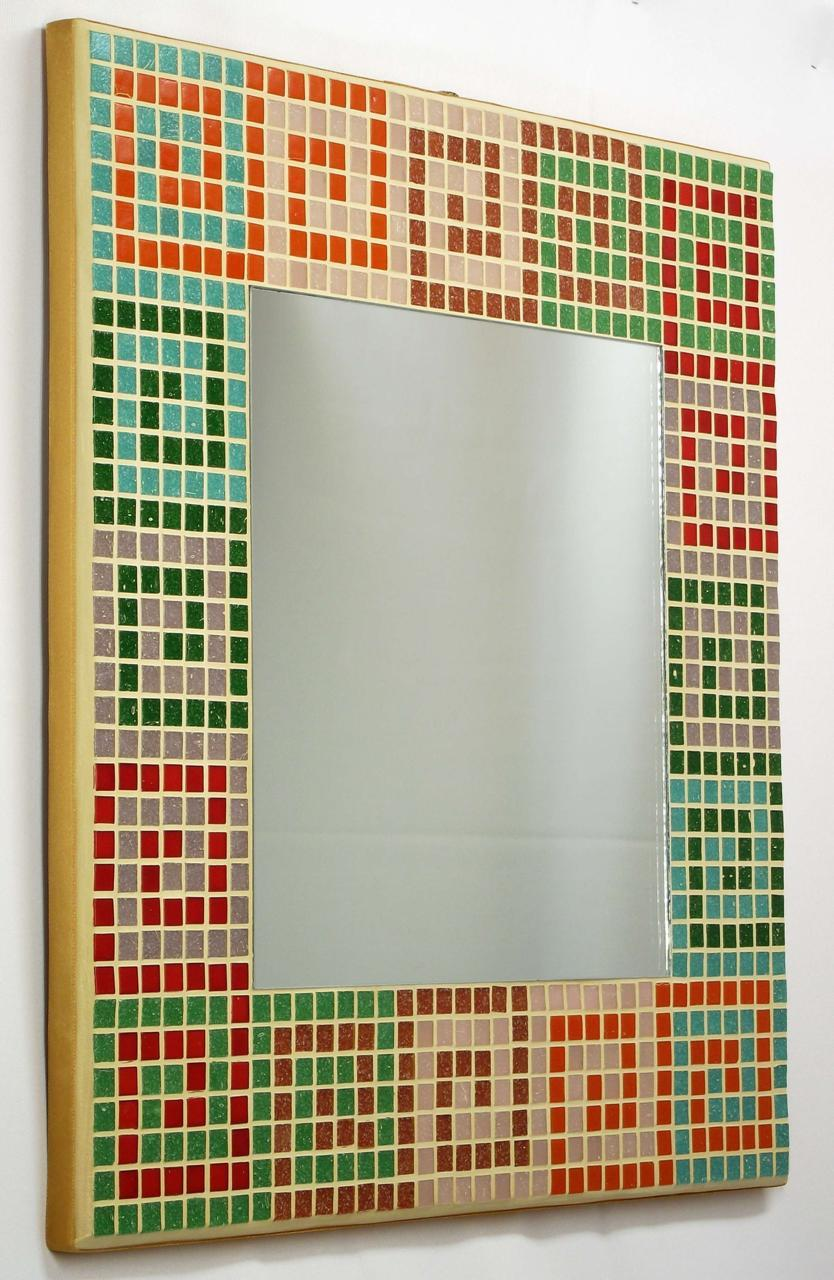 Serpentine Hues 40cm Mosaic Mirror (side)
