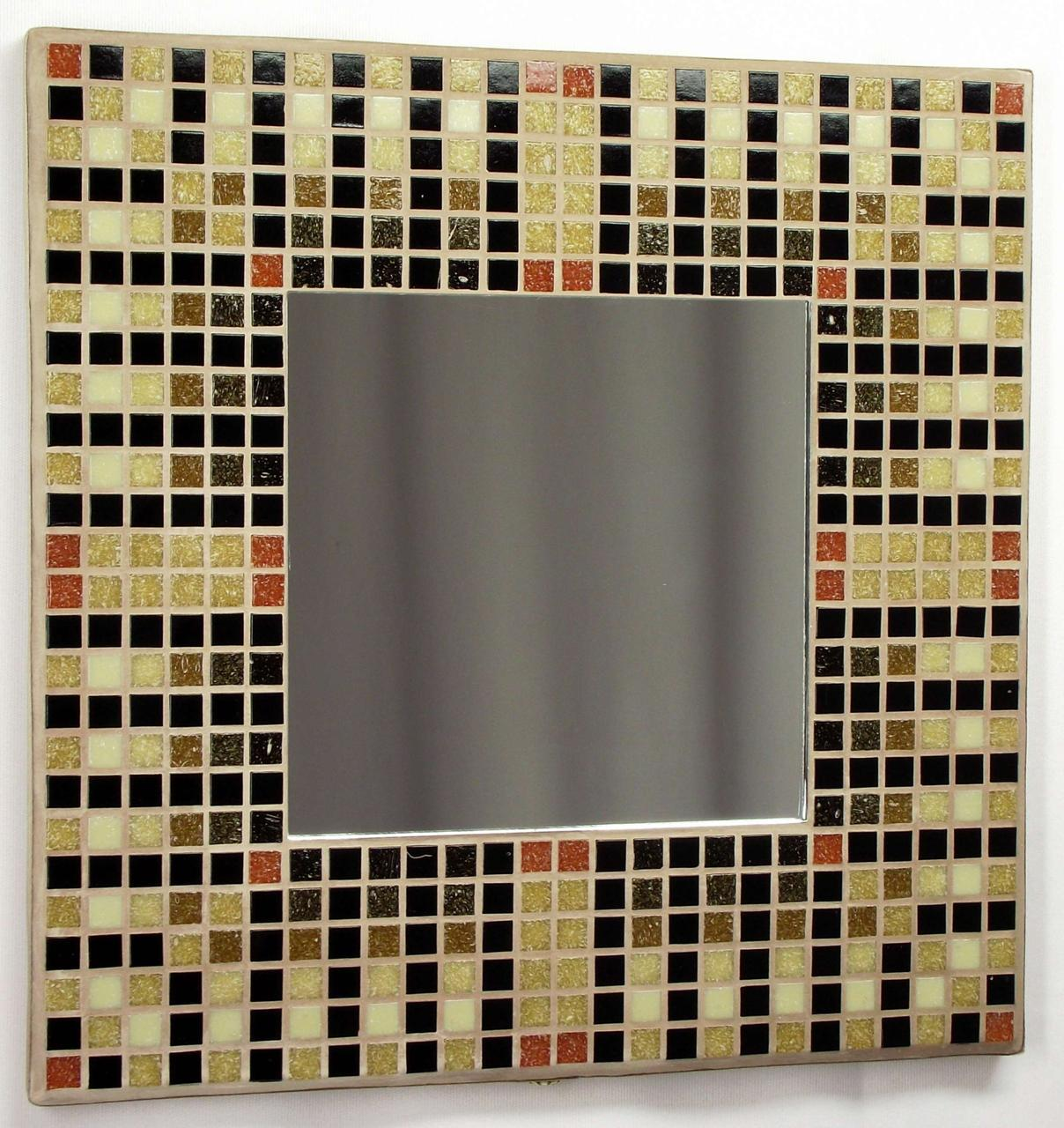 Egyptian Brown 29cm Mosaic Mirror