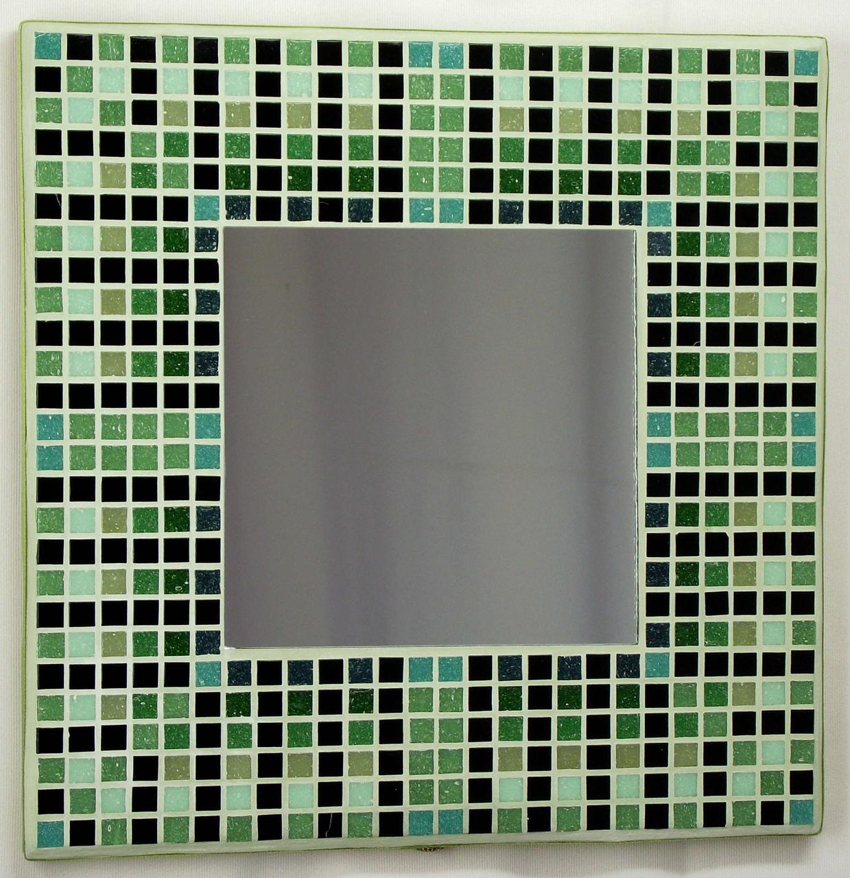 Egyptian Green 29cm Mosaic Mirror