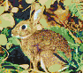 Rabbit in Foliage - Mosaic Tile Art