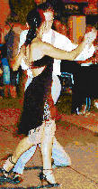 Tango Dancers in Buenos Aires - Mosaic Tile Art