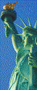 Statue of Liberty (Profile) - Mosaic Tile Art