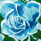 Fairy Rose (Turquoise) - Mosaic Tile Art