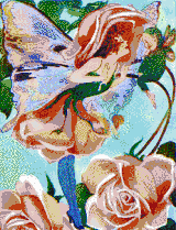 Rose Flower Fairy - Mosaic Tile Art