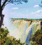 Victoria Falls Waterfall - Mosaic Tile Art