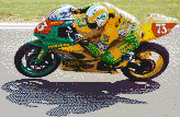 Suzuki GSXR600 at Brands Hatch - Mosaic Tile Art