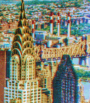 Chrysler Building from the Empire State - Mosaic Tile Art