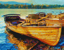 Derwentwater Boats (Lake District) - Mosaic Tile Art