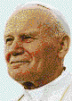 Pope John Paul II - Mosaic Tile Art