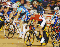 Women Cycling (Points Race) - Mosaic Tile Art