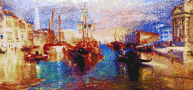 The Grand Canal, Venice (Turner) - Mosaic Tile Art