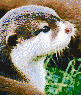 Otter Face - Mosaic Tile Art