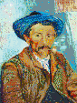 The Smoker (Van Gogh) - Mosaic Tile Art