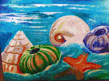 Swirling Sea Shells - Mosaic Tile Art