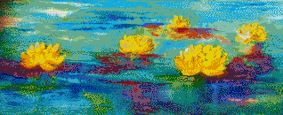 Serene Water Lillies - Mosaic Tile Art
