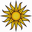 Sun (on white) - Tile Mosaic