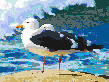 Seagulls by the Ocean - Mosaic Tile Art