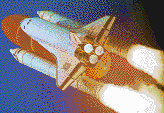 Launch of Discovery Space Shuttle - Mosaic Tile Art