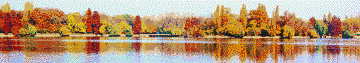 Autumn on the Lake - Mosaic Tile Art