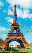 Eiffel Tower - Mosaic Tile Art