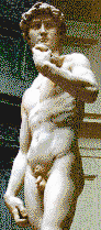 Michelangelo's David - Mosaic Tile Art