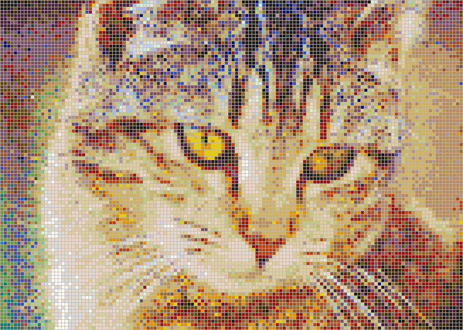 Bernice the Cat - Mosaic Tile Picture Art