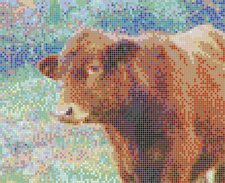 Simmental Calf (Cow) - Mosaic Tile Picture Art