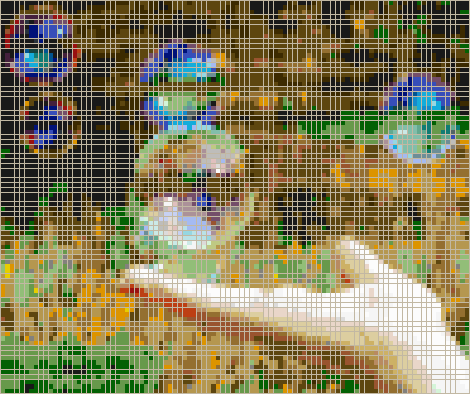 Hand with Bubbles - Mosaic Tile Picture Art