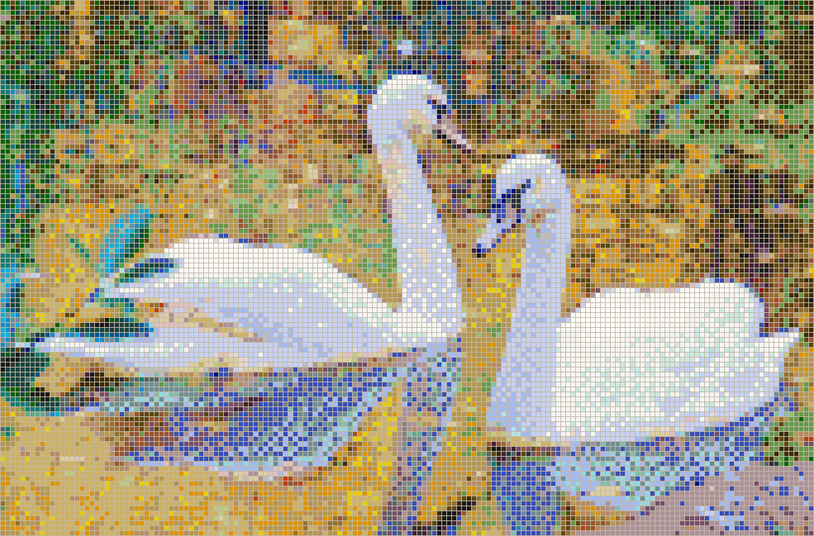 Autumn Swans - Mosaic Tile Picture Art