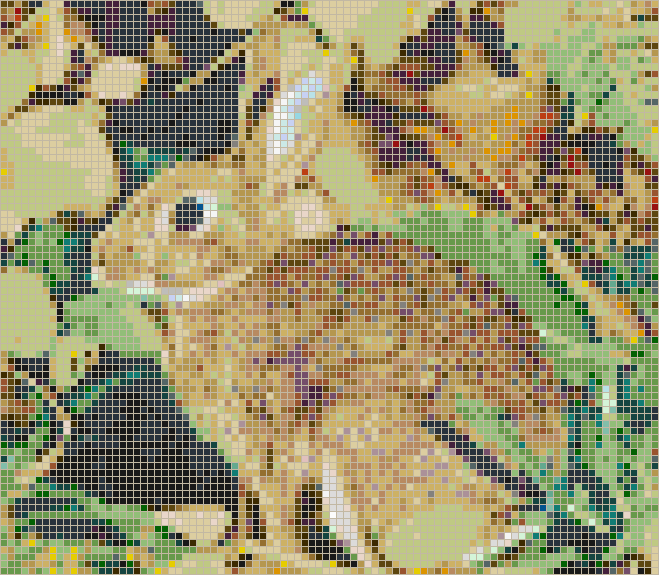 Rabbit in Foliage - Mosaic Tile Picture Art