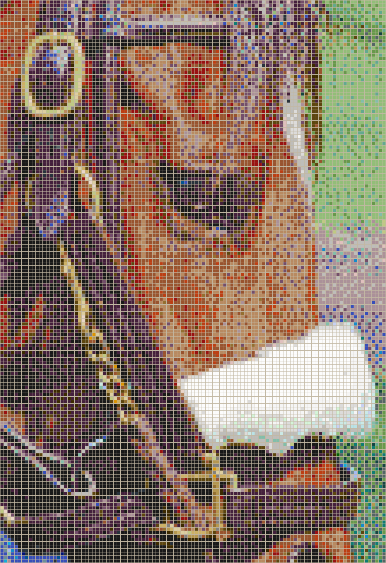 Race Horse Face (Lexington, Kentucky) - Mosaic Tile Picture Art