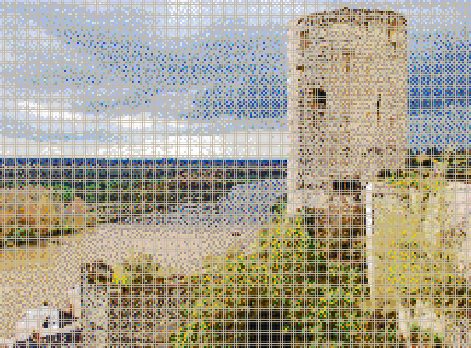 Loire Valley Tower (Château de Chinon) - Mosaic Tile Picture Art