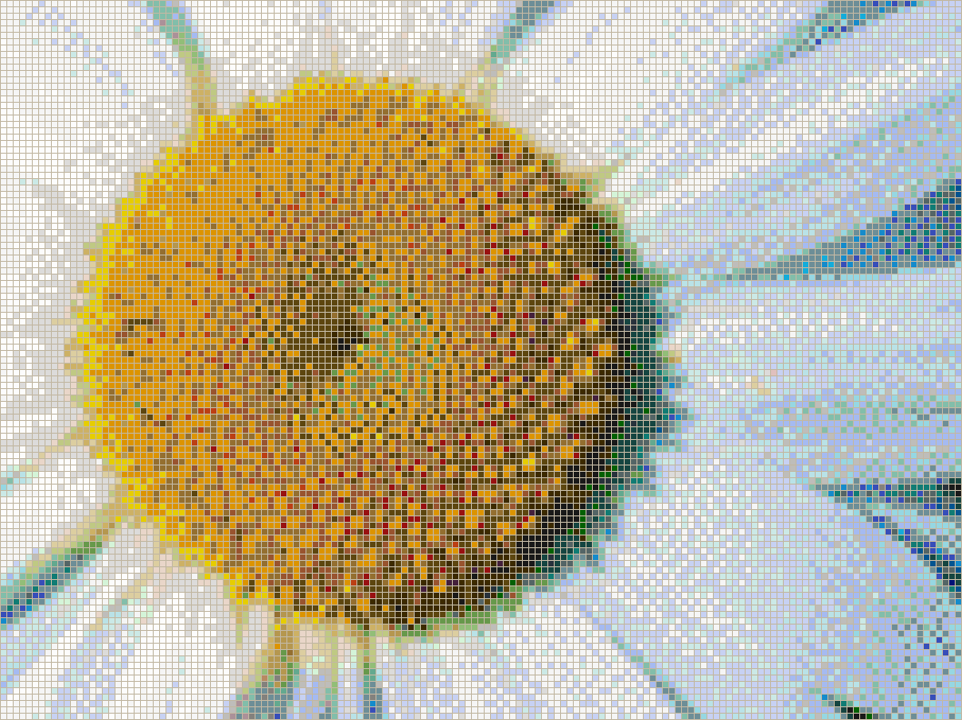 Daisy Detail - Mosaic Tile Picture Art