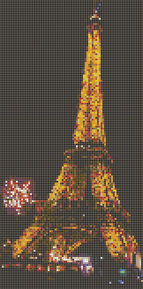 Eiffel Tower (New Year) - Mosaic Tile Picture Art